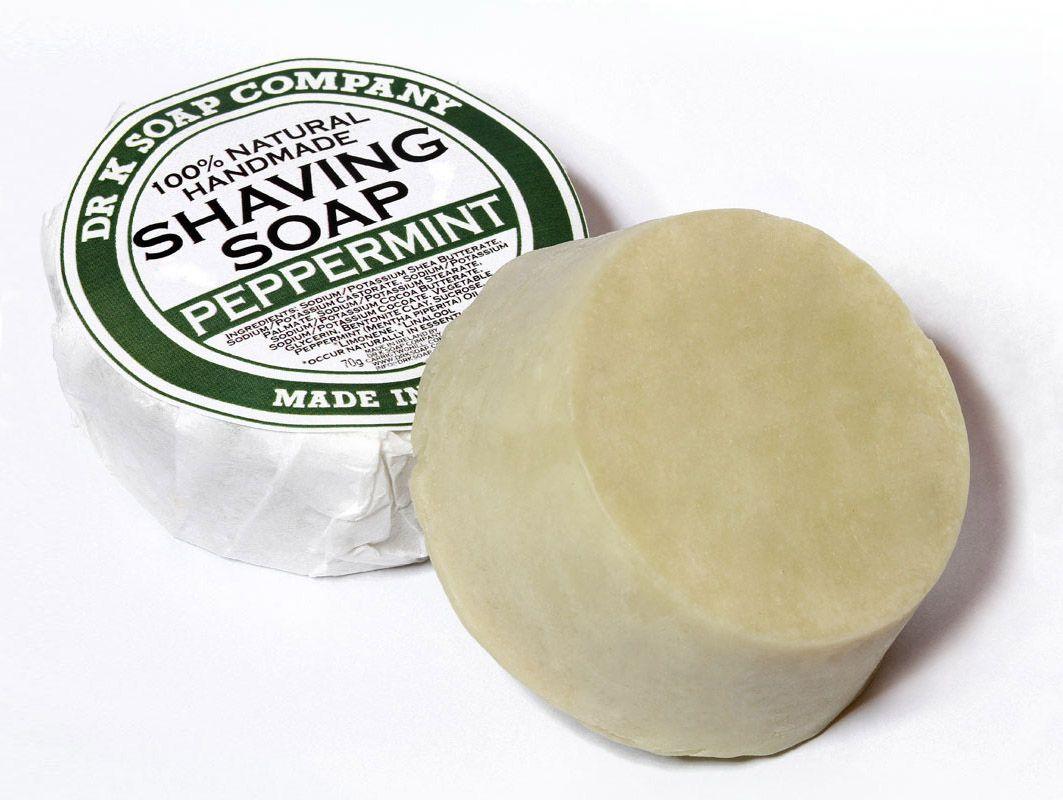 Wygląd mydła Dr K Peppermint