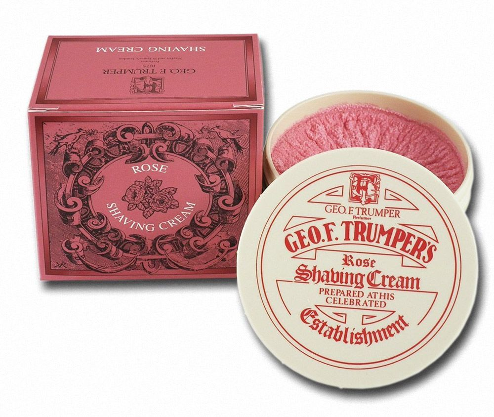 Słoik z kremem do golenia Geo. F. Trumper's Rose Shaving Cream