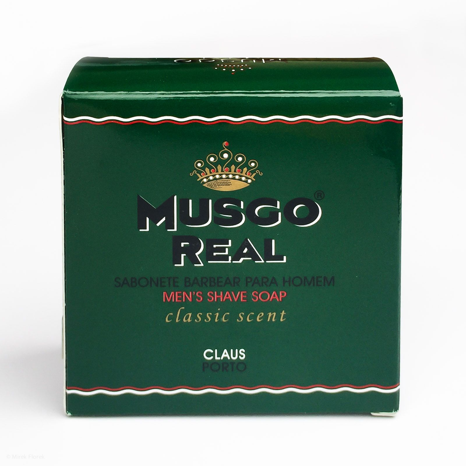 Opakowanie mydła do golenia Musgo Real Men's Shave Soap Classic Scent