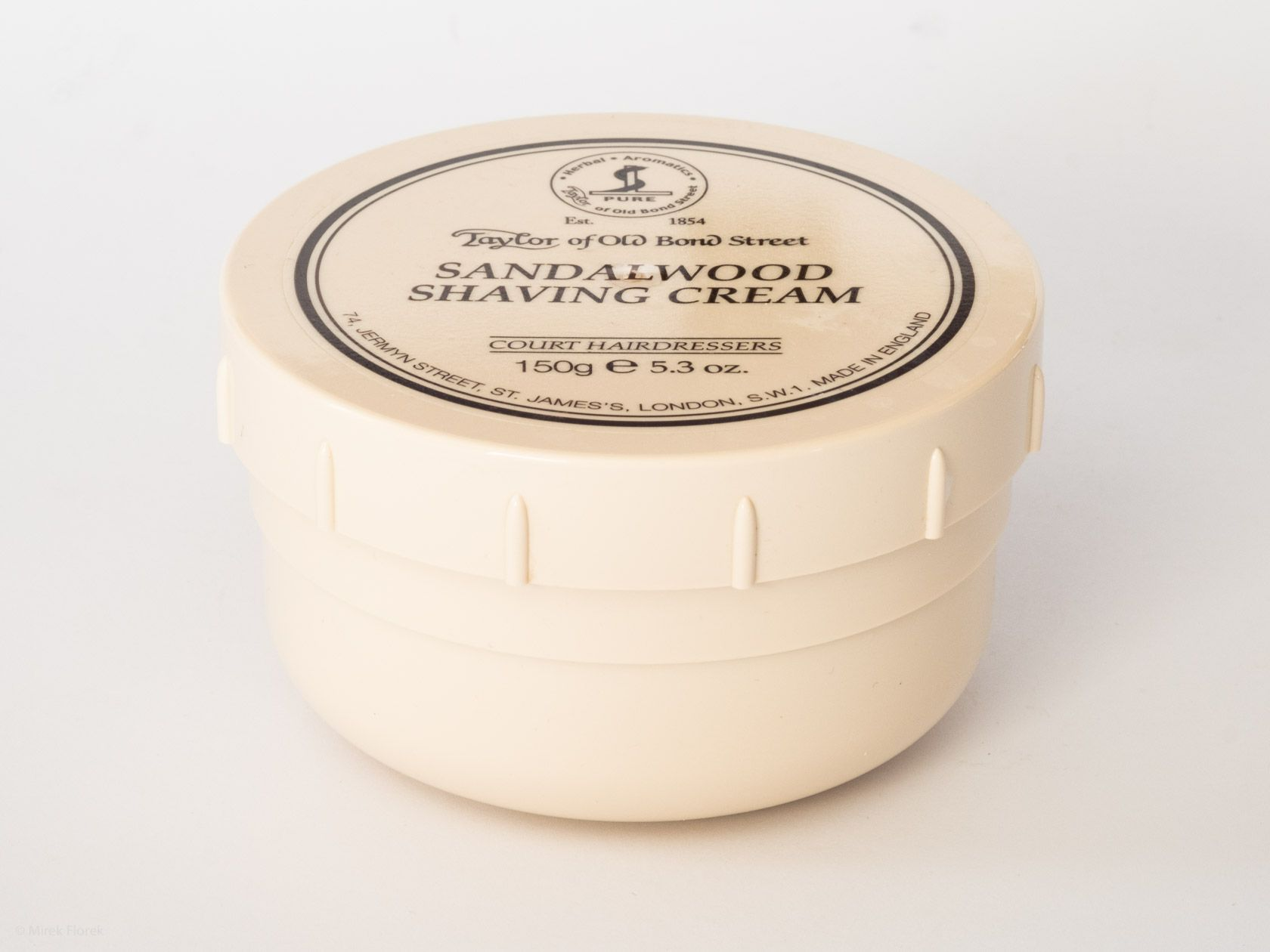 Słoik z kremem do golenia Taylor of Old Bond Street Sandalwood Shaving Cream