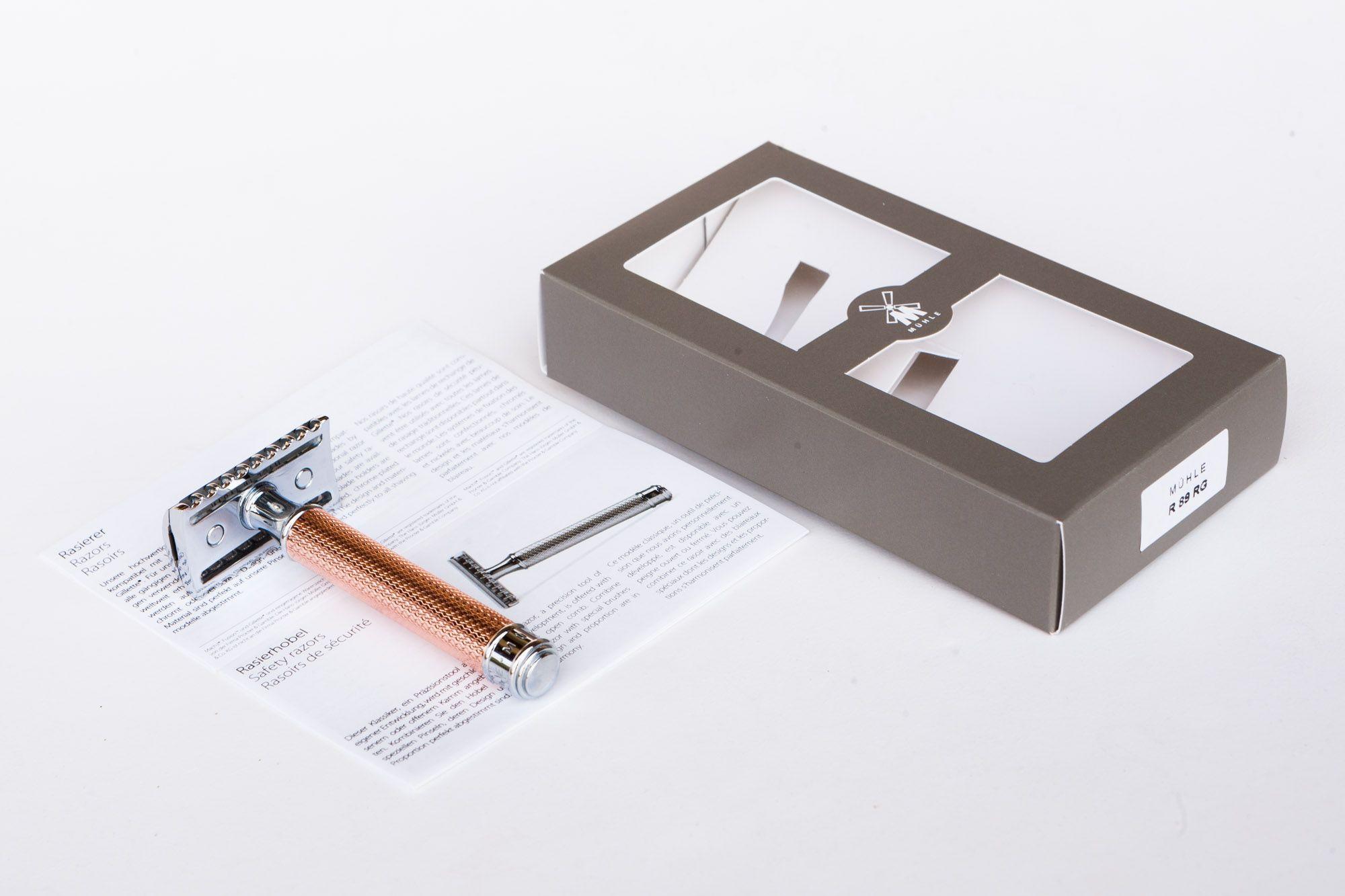 Maszynka Mühle R41 Rosegold – zawartość opakowania
