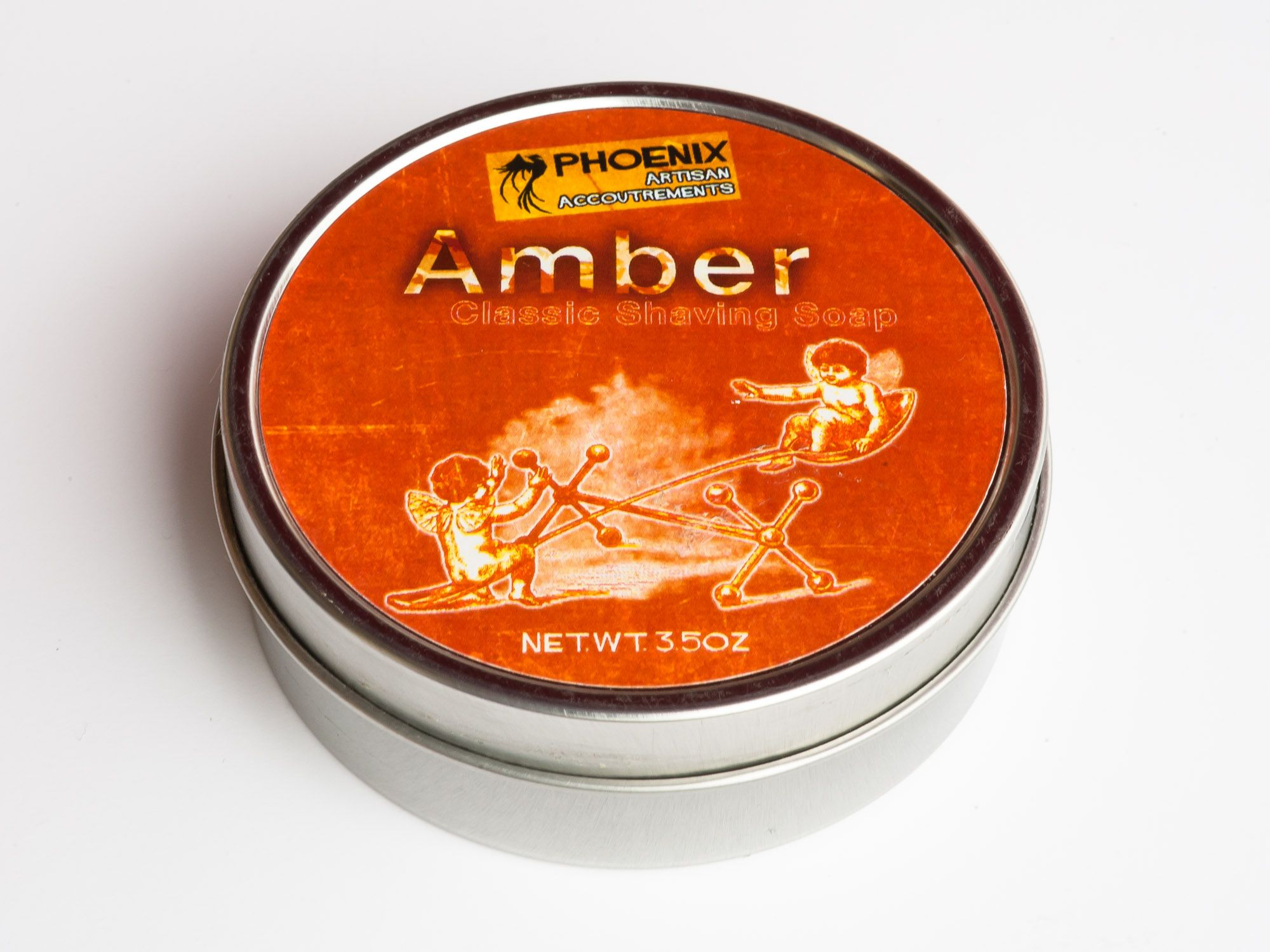 Puszka mydła do golenia Phoenix Artisan Accoutrements Amber Shaving Soap