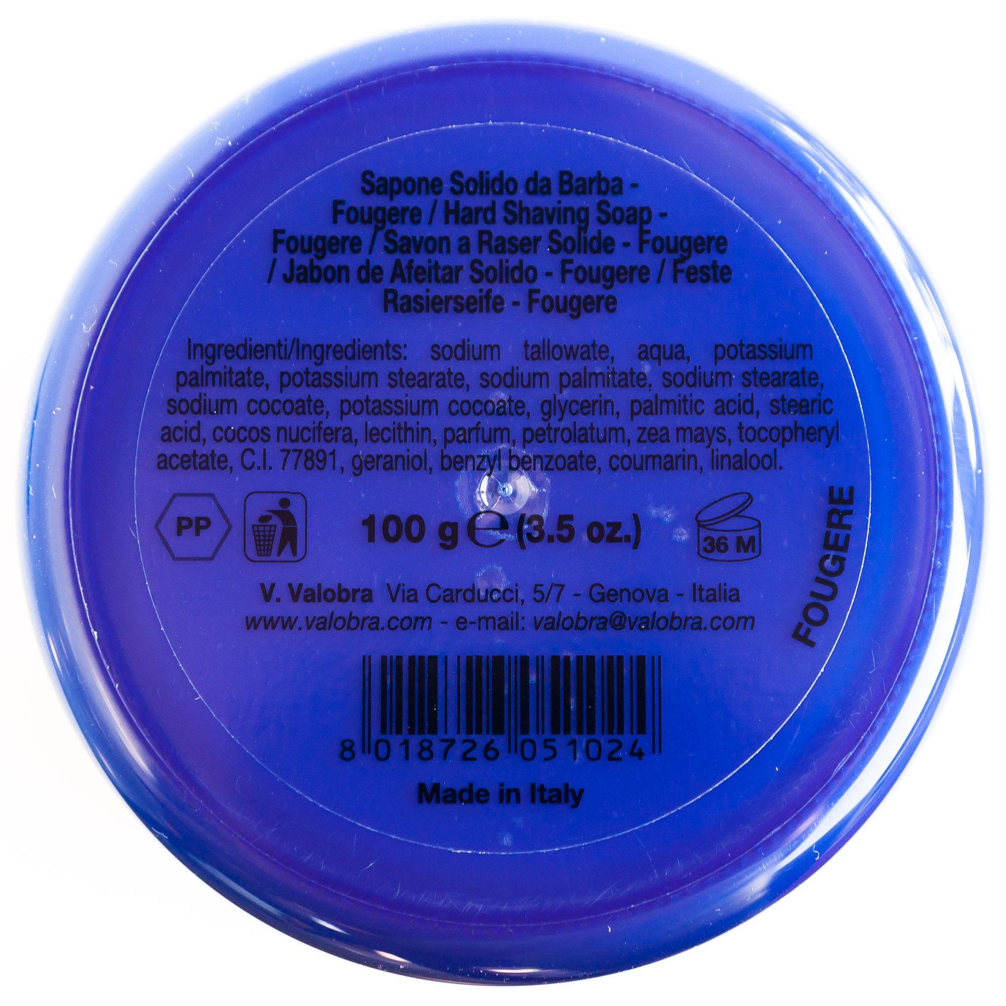 Skład mydła do golenia Valobra Fougere (INCI ingredients)