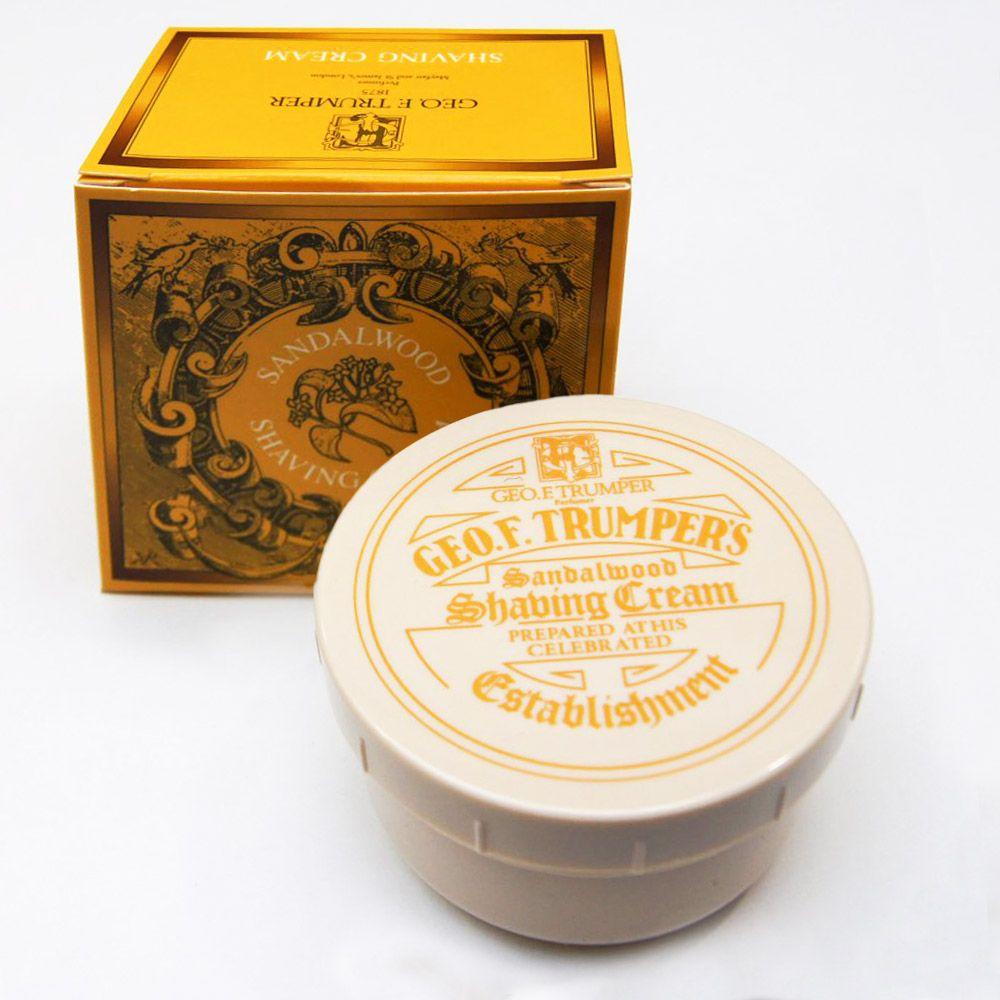Opakowanie kremu do golenia Geo. F. Trumper Sandalwood Shaving Cream