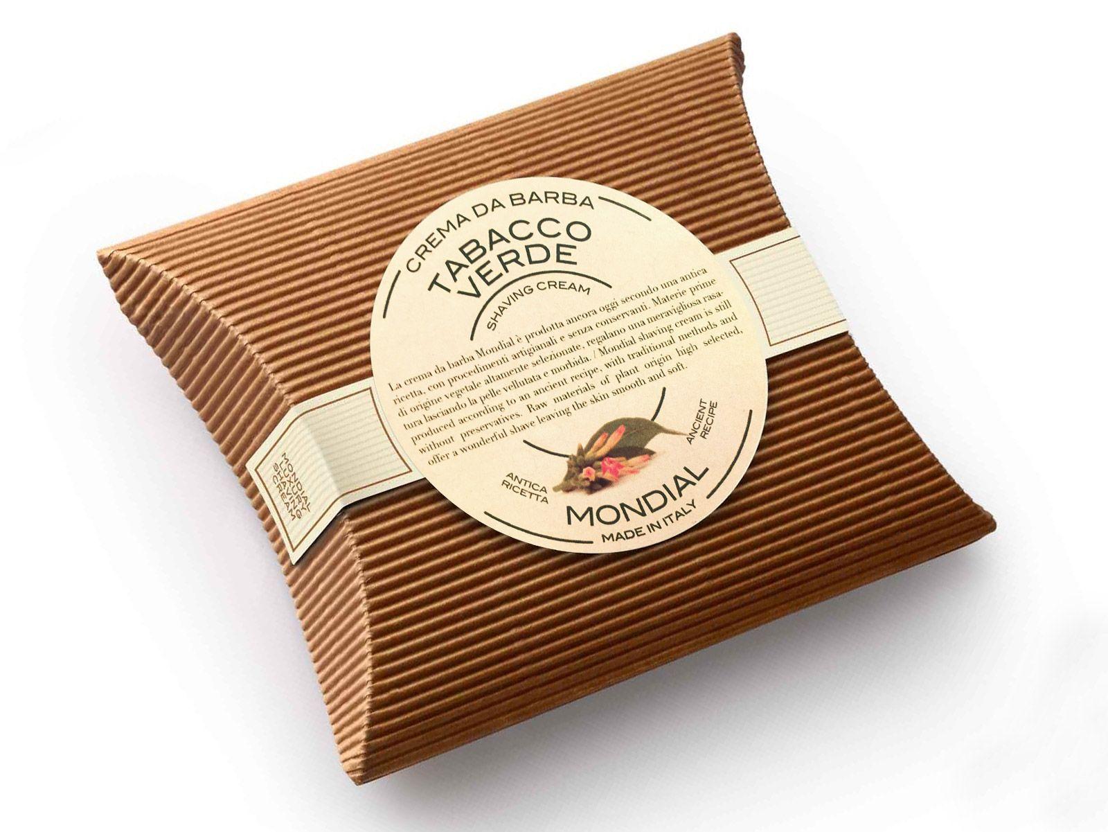 Wkład kremu do golenia Mondial Crema da Barba Tabacco Verde (Shaving Cream)