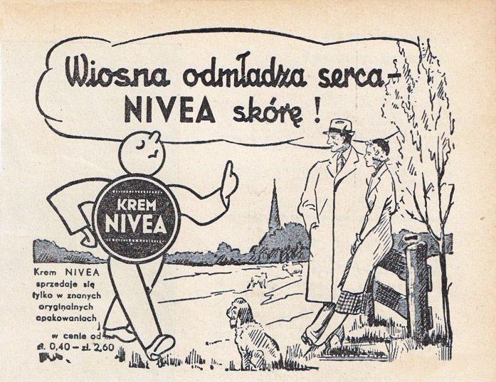 Reklama kremu Nivea z lata 30-tych, zdjęcie: Cosmetic and Household Museum