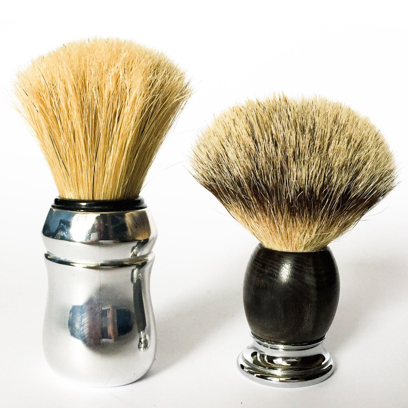 Pędzel Proraso w porównaniu z Mühle Sophist Silvertip Badger Brush