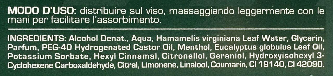 Skład (ingredients) wody po goleniu Proraso Lozione Dopobarba Rinfrescante e Tonificante