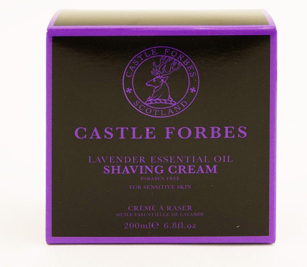 Opakowanie kremu do golenia Castle Forbes Lavender Shaving Cream