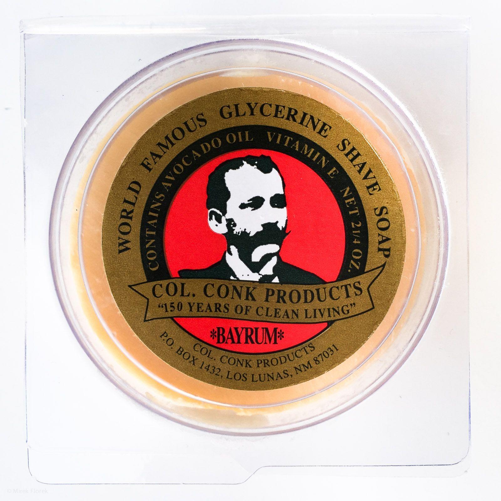 Opakowanie mydła do golenia Col. Conk Shave Soap Bay Rum
