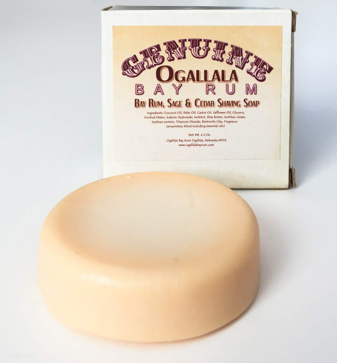 Mydło do golenia Ogallala Bay Rum, Sage and Cedar Wood Shaving Soap