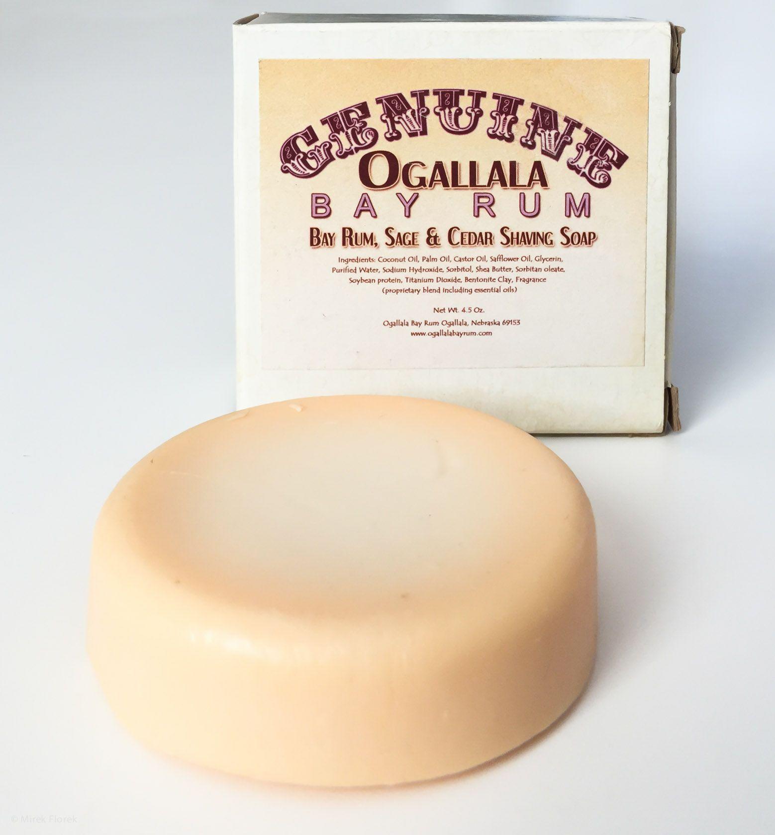 Mydło do golenia Ogallala Bay Rum, Sage and Cedar Wood Shaving Soap