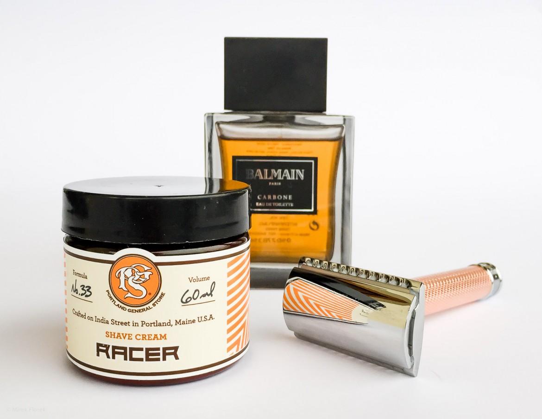 Golenie z użyciem kremu Portland General Store Racer Shaving Cream - scenka