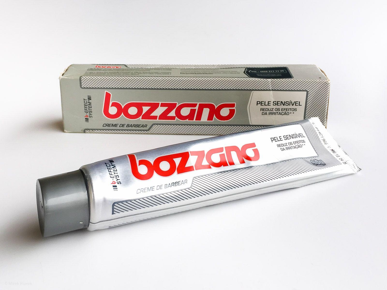Opakowanie kremu do golenia Bozzano Creme de Barbear Pele Sensivel