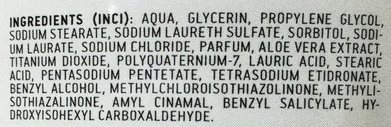 Skład mydła do golenia Organique