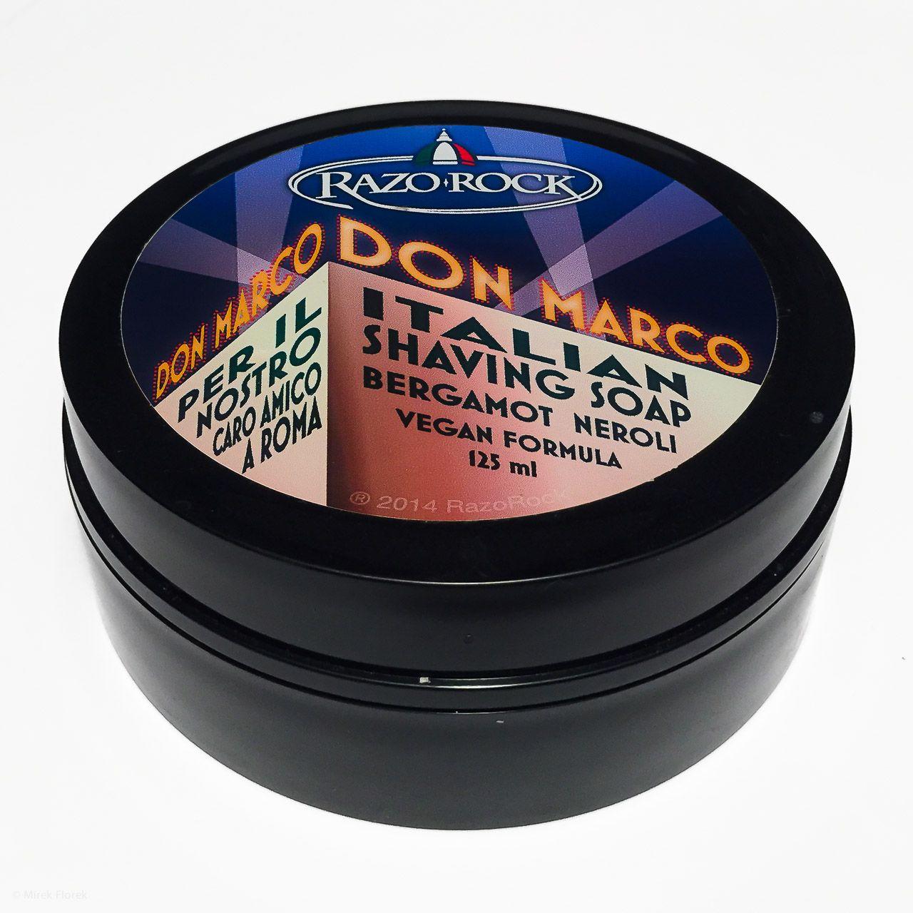 Opakowanie mydła RazoRock Don Marco