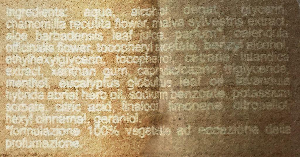 Skład balsamu po goleniu Saponificio Varesino Tundra Artica Balm (Ingredients)