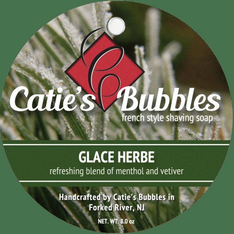 Nowa etykieta mydła Catie's Bubbles Glacé Herbes