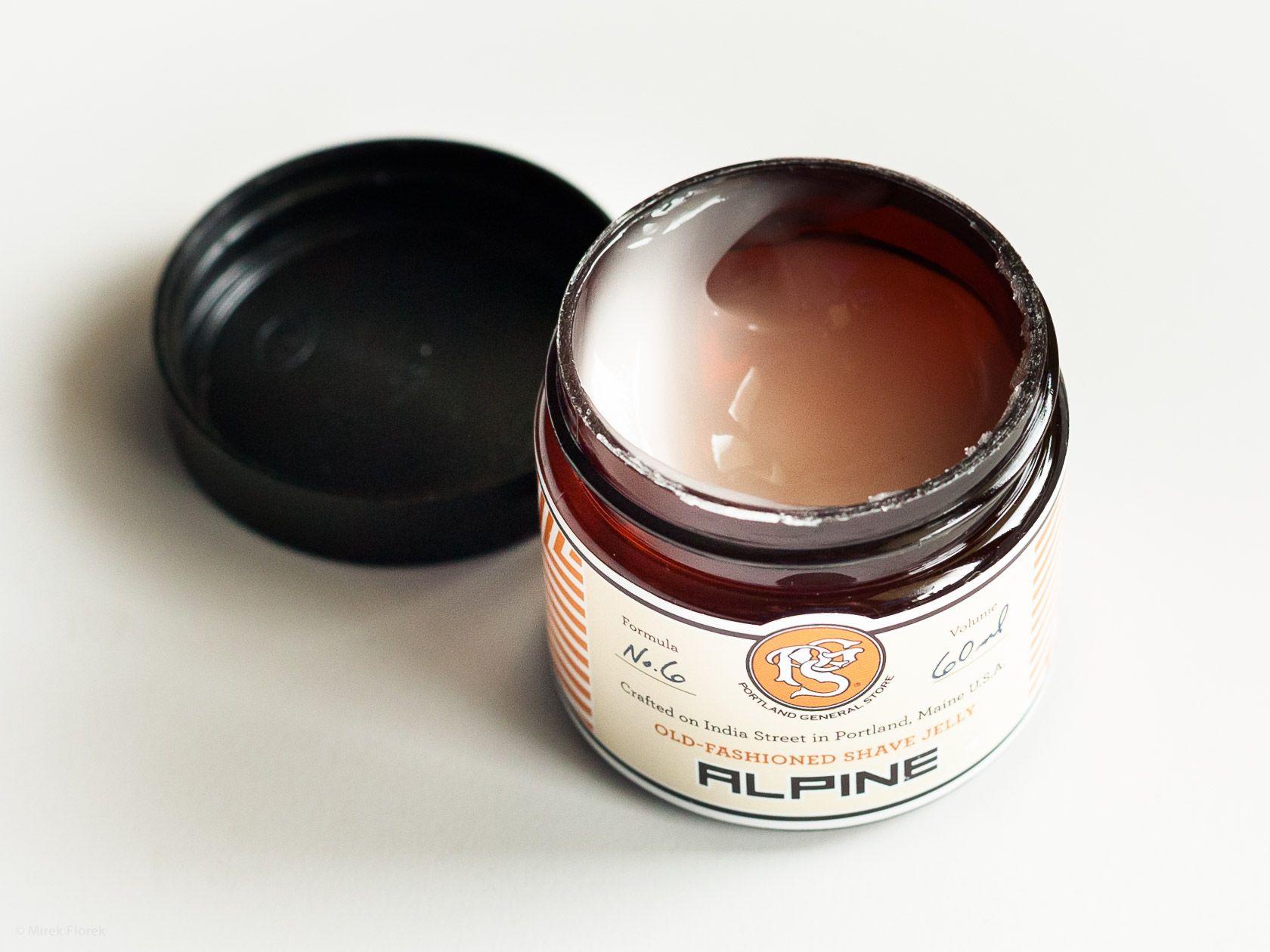 Konsystencja żelu do golenia Portland General Store Alpine Shave Jelly