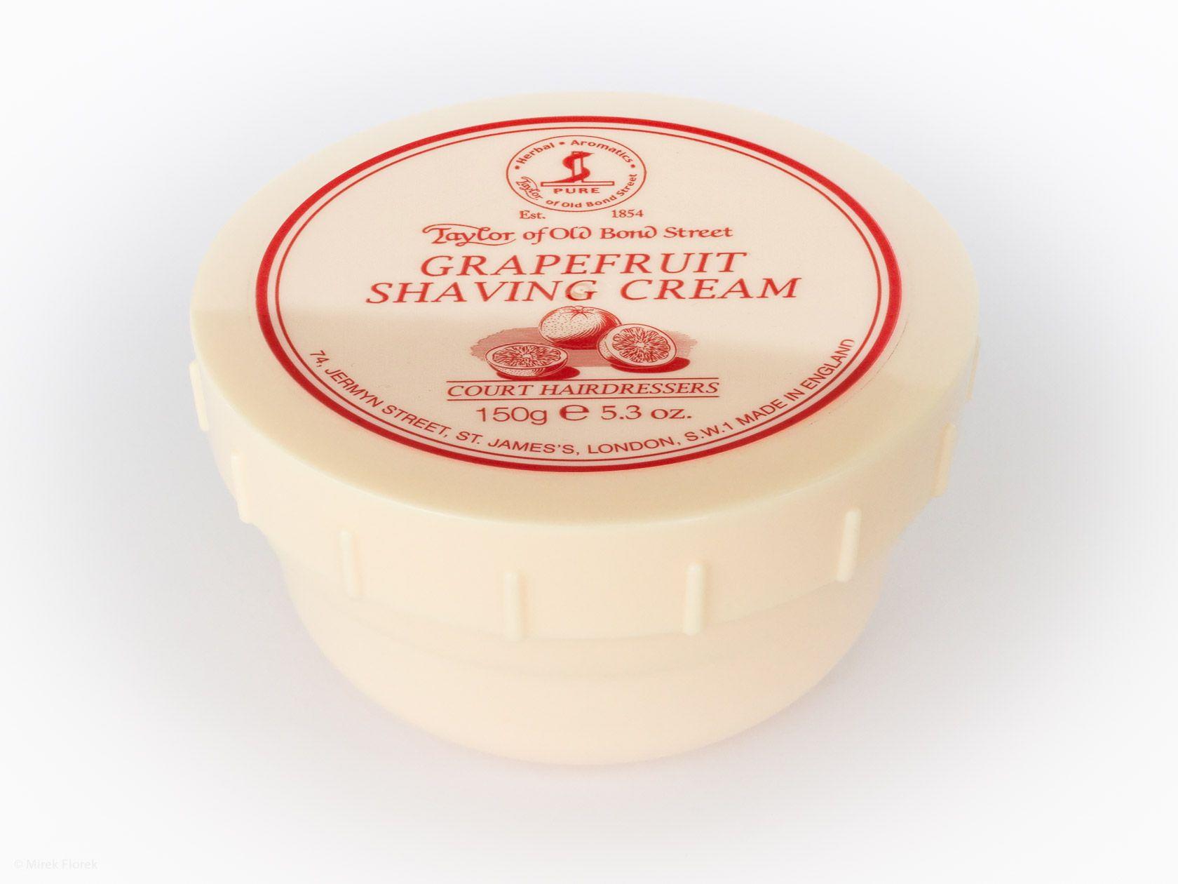 Opakowanie kremu do golenia Taylor of Old Bond Street Grapefruit Shaving Cream