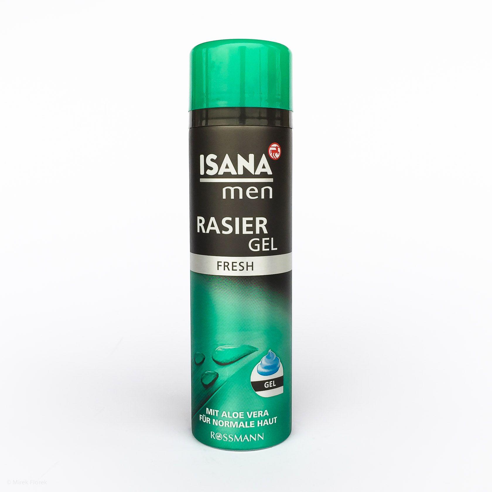 Żel do golenia ISANA men Rasier Gel Fresh mit Aloe Vera