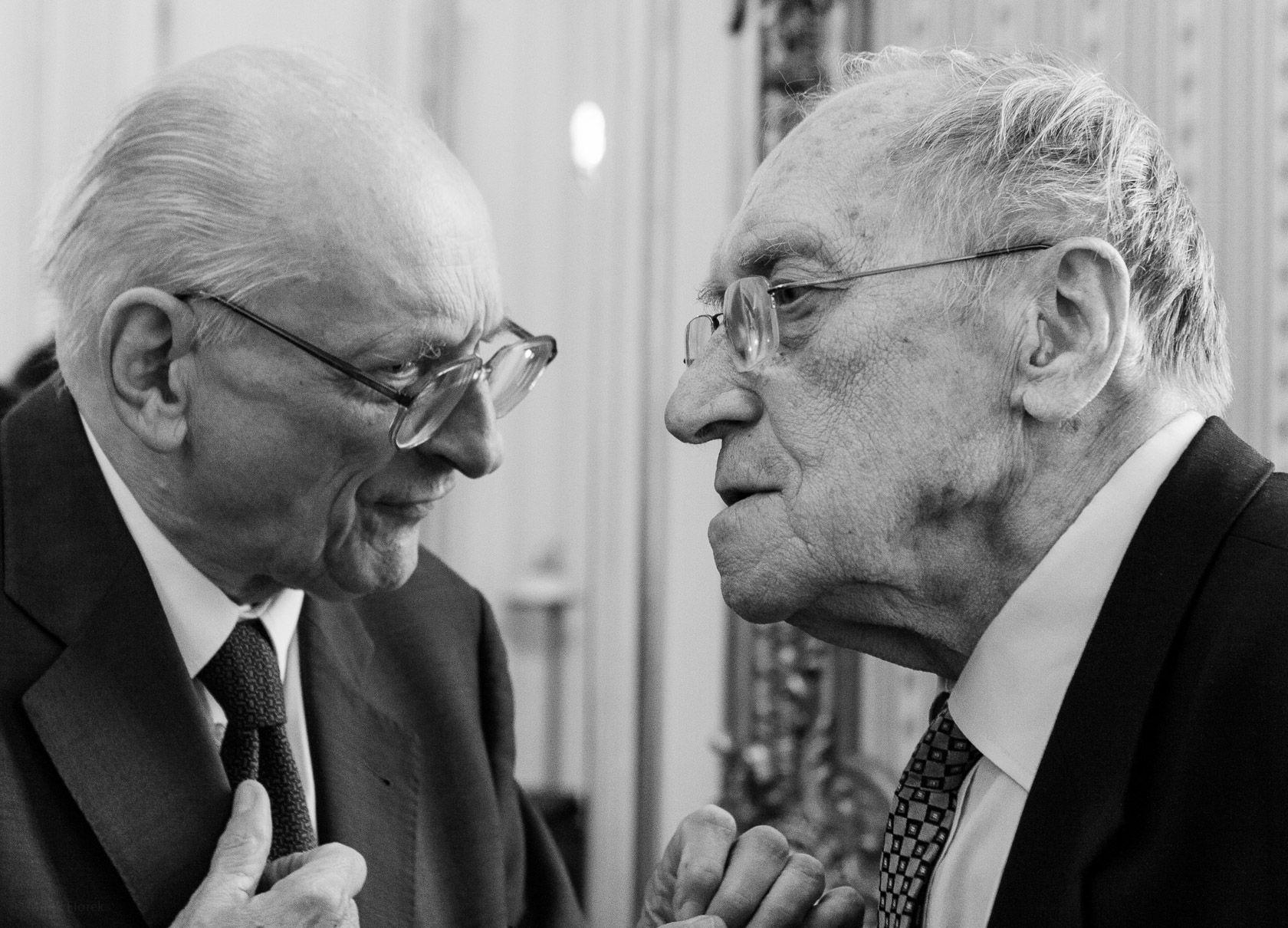 Władysław Bartoszewski i Leszek Kołakowski