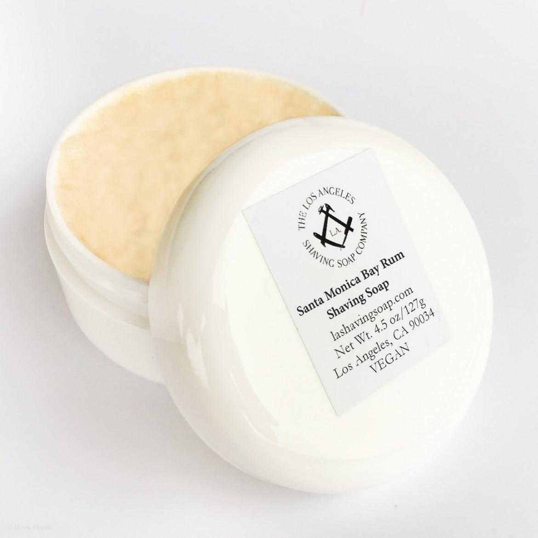 Opakowanie mydła do golenia Los Angeles Santa Monica Bay Rum Shaving Soap