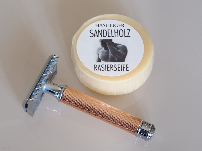 Mydło do golenia Haslinger Sandalholz Rasierseife (Shaving Soap)