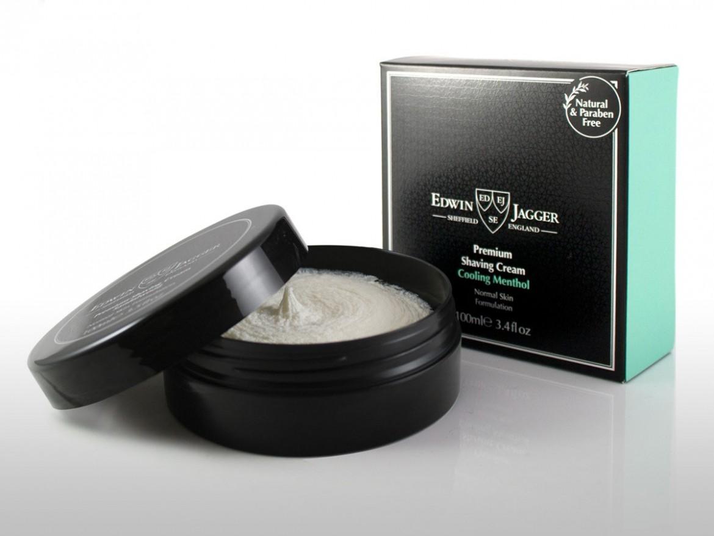 Opakowanie kremu do golenia Edwin Jagger Cooling Menthol Shaving Cream (zdjęcie Edwin Jagger)