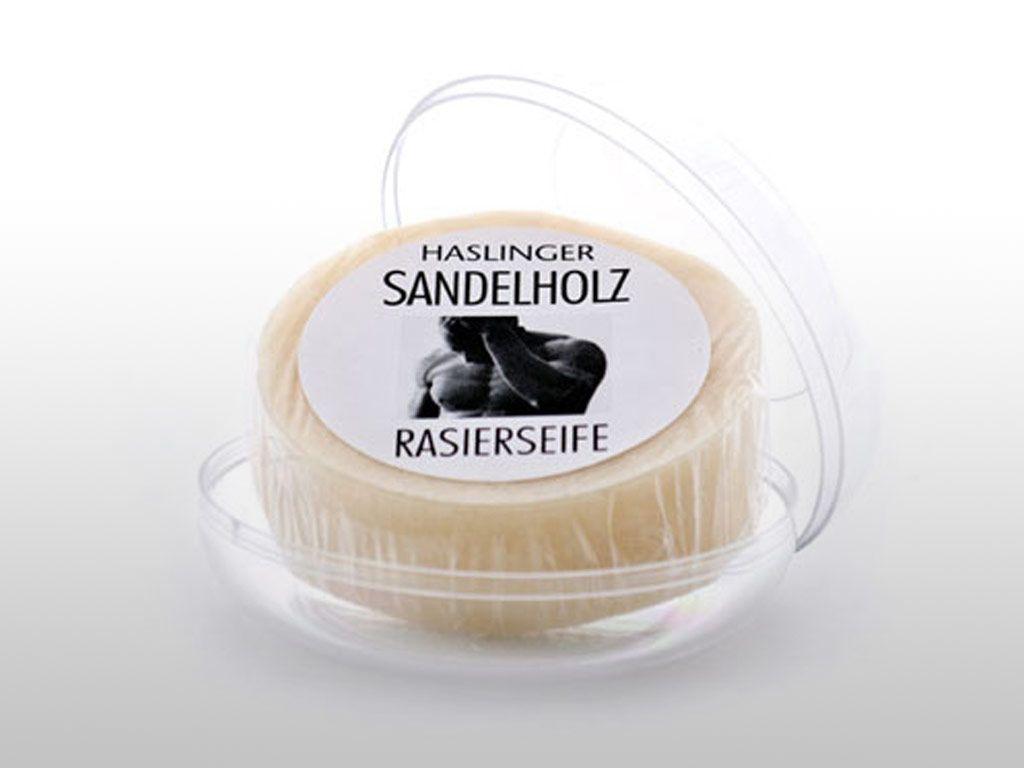 Mydło do golenia Haslinger Sandalholz Rasierseife (Shaving Soap) w firmowym tyglu