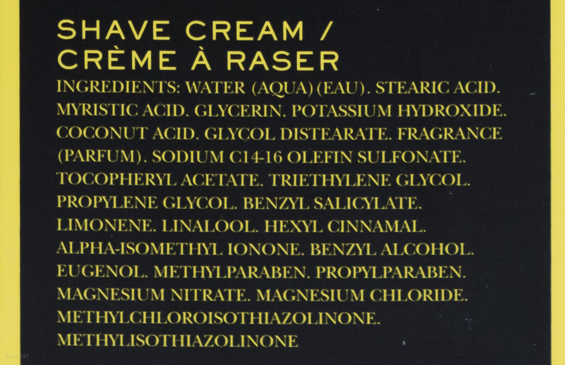 Skład (INCI ingredients) Crabtree & Evelyn West Indian Lime Shaving Cream