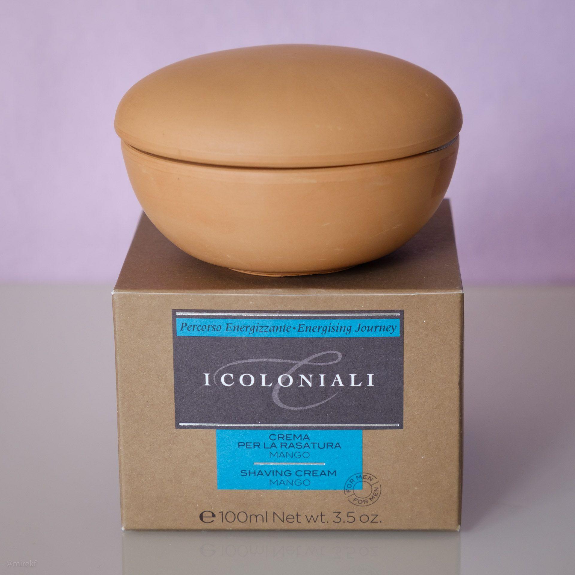 Opakowanie mydła do golenia I Coloniali Mango Crema per la Rasatura