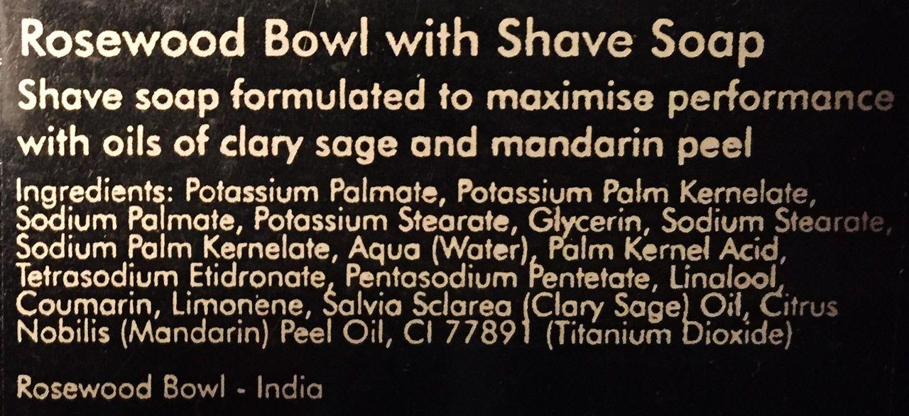 Skład mydła do golenia Arran Aromatics Driftwood Shaving Soap
