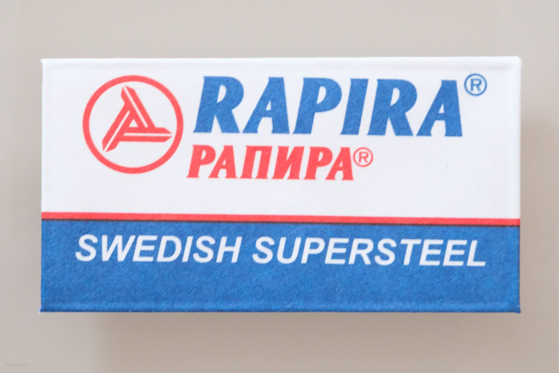 Koperta żyletki Rapira Swedish Stainless