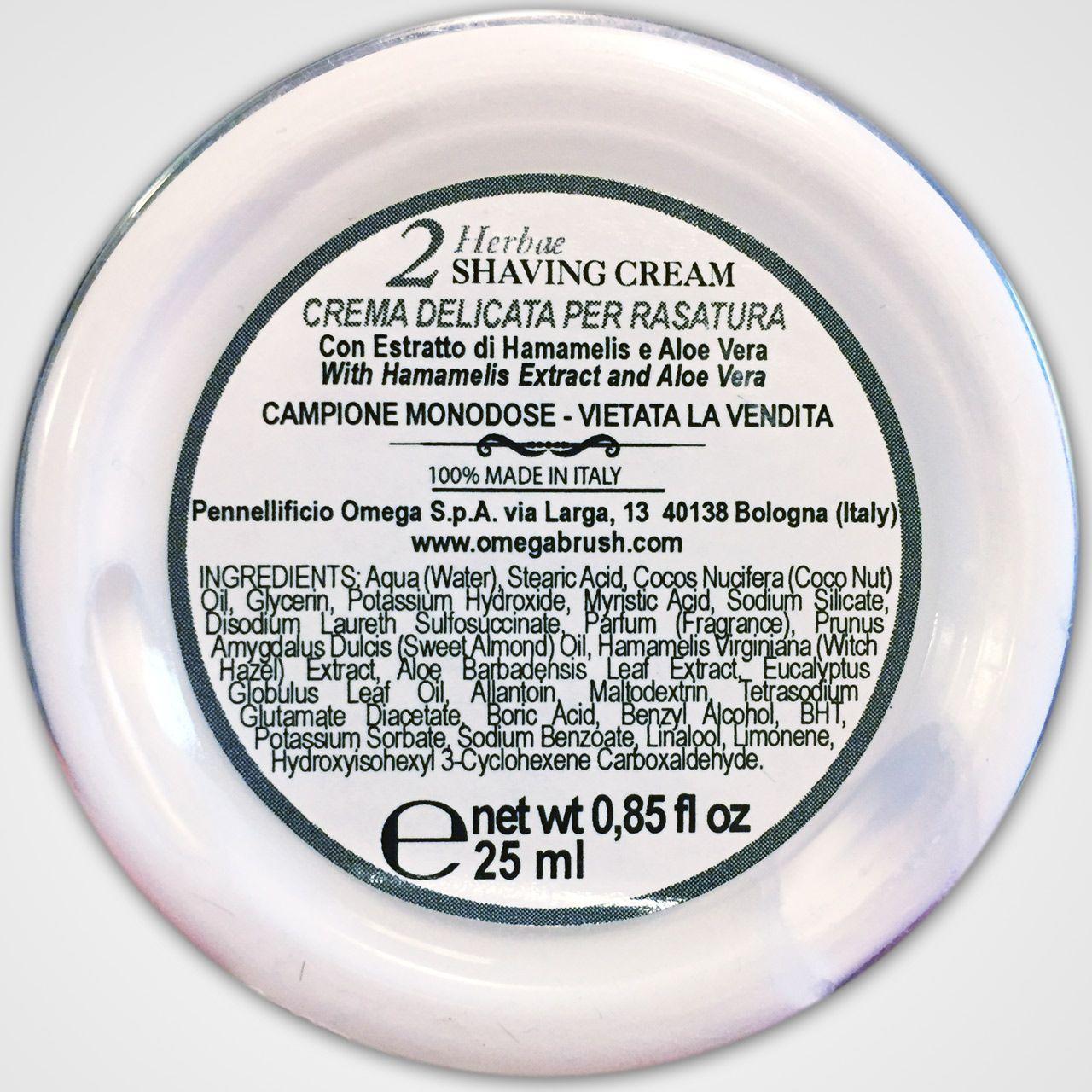 Skład kremu do golenia Omega Via Barberia Herbae Shaving Cream (INCI ingredients)