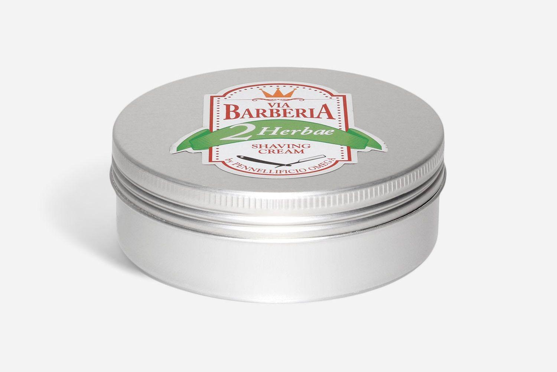 Tygiel z kremem do golenia Omega Via Barberia Herbae Shaving Cream