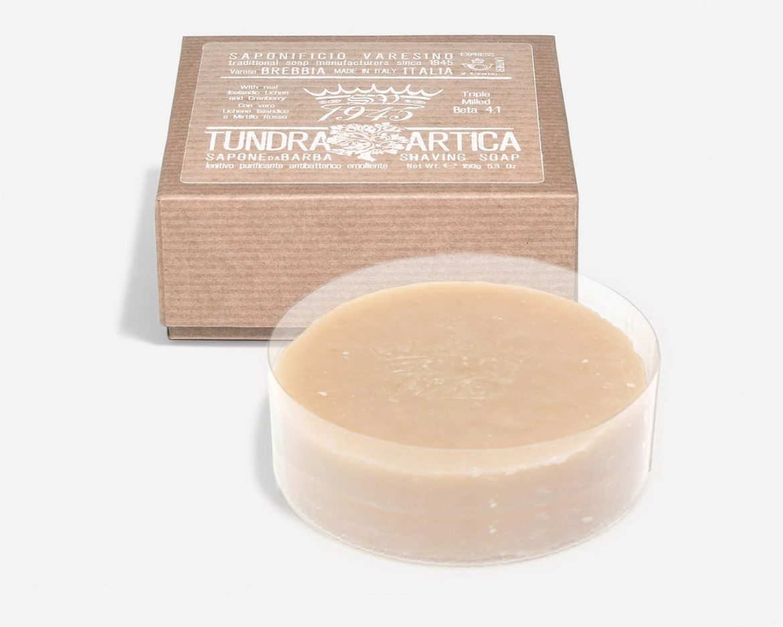 Opakowanie mydła do golenia Saponificio Varesino Tundra Artica Shaving Soap