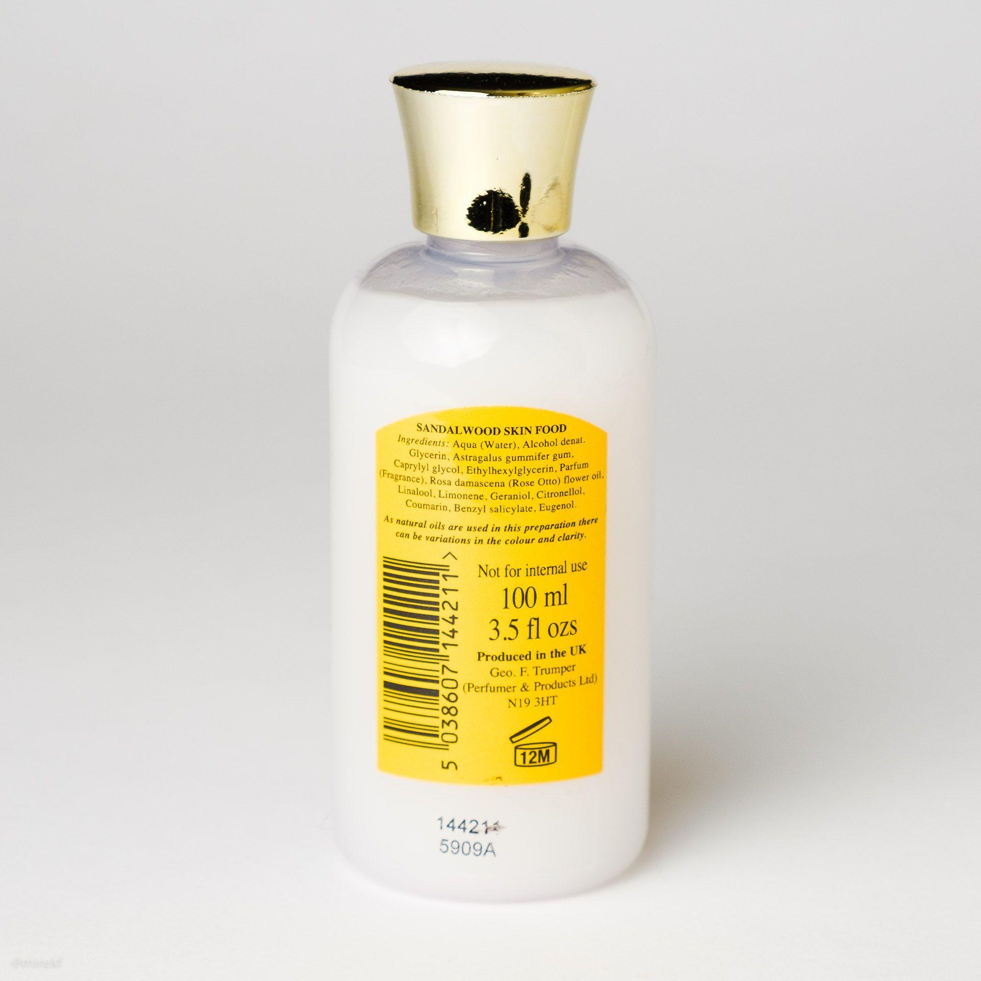 Geo. F. Trumper Sandalwood Skin Food Ingredients