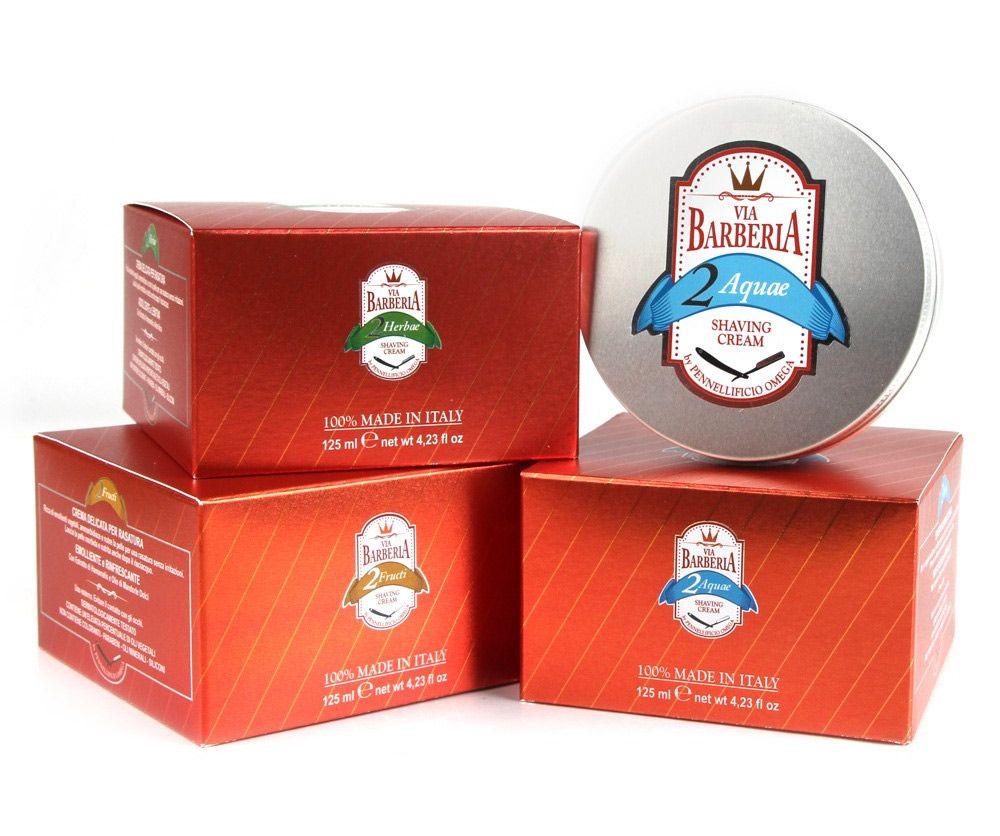 Opakowanie kremu do golenia Omega Via Barberia Aquae Shaving Cream (zdjęcie: Omega)