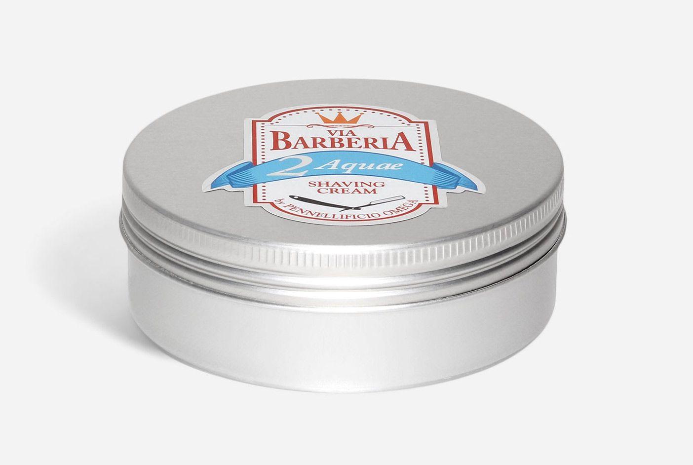 Tygiel z kremem do golenia Omega Via Barberia Aquae Shaving Cream (zdjęcie: Omega)
