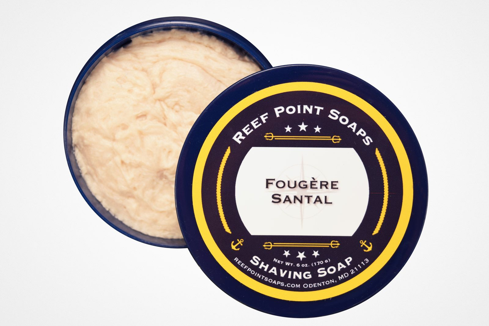 Konsystencja mydła do golenia Reef Point Fougère Santal Shaving Soap