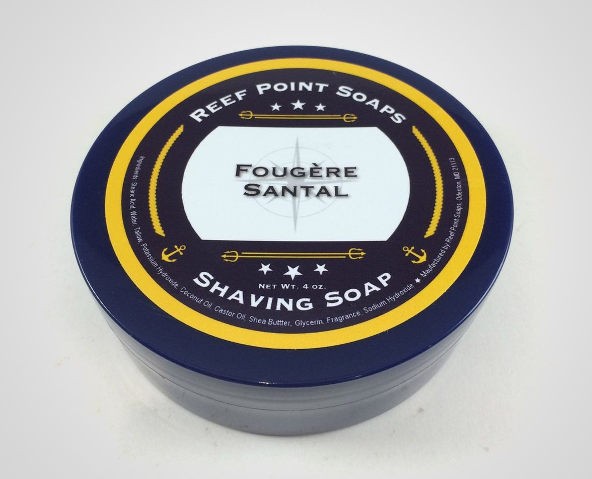 Opakowanie mydła do golenia Reef Point Fougère Santal Shaving Soap