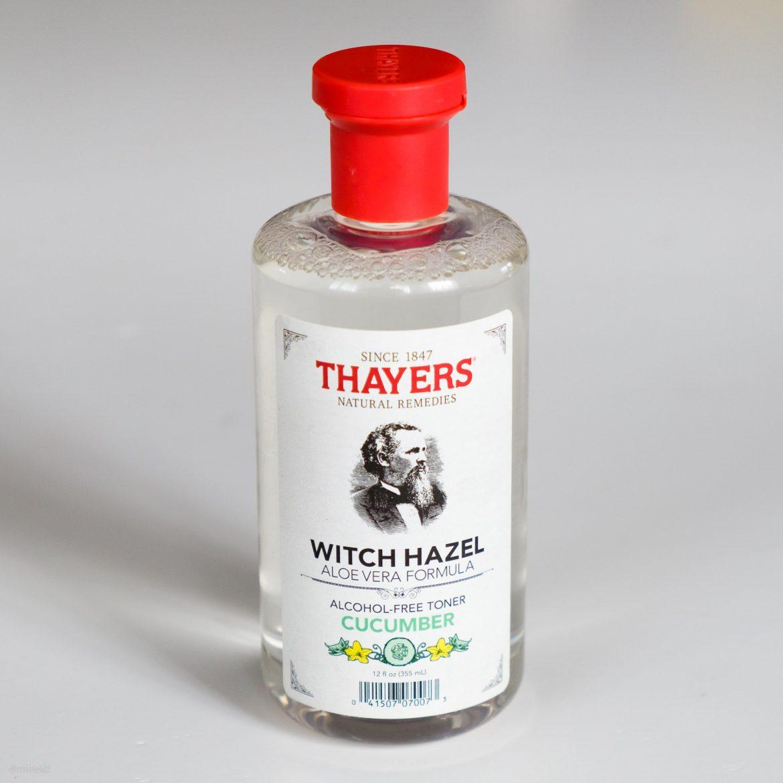 Opakowanie bezalkoholowej wody po goleniu Thayers-Witch-Hazel-Cucumber-Bottle
