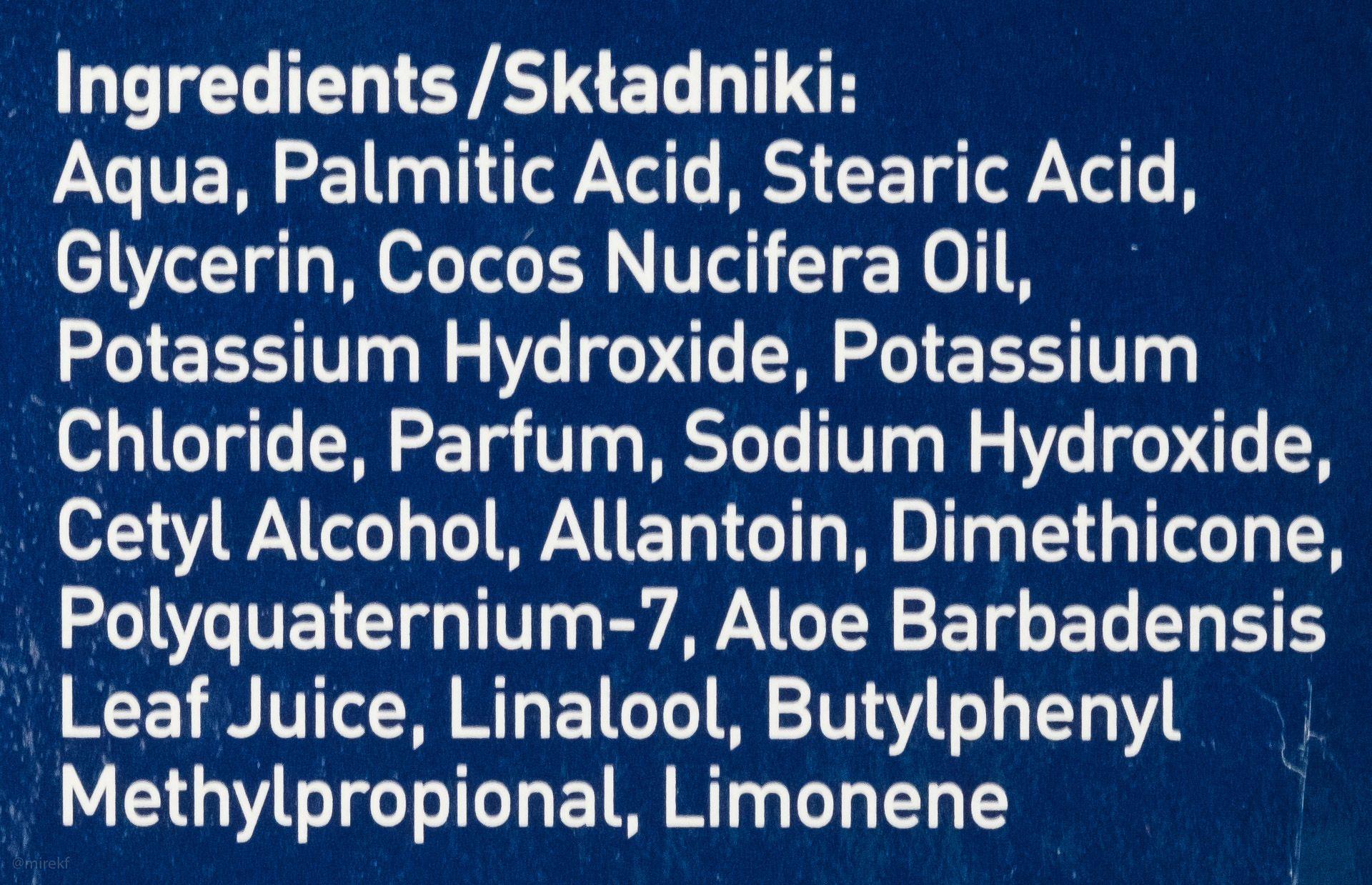 Skład (INCI ingredients) kremu do golenia Wilkinson Sword Rasiercreme (Shaving Cream)