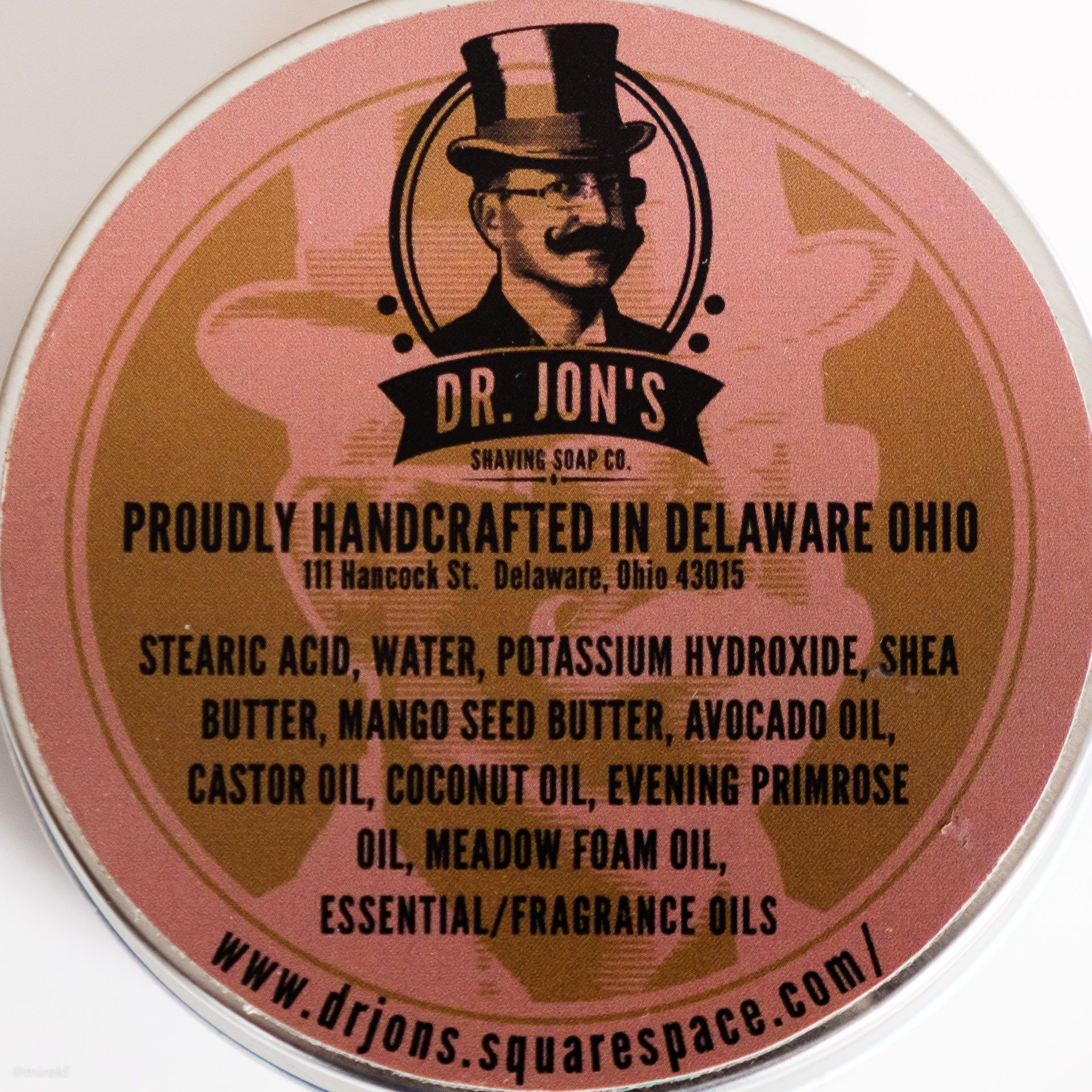 Skład (INCI ingredients) mydła do golenia Dr. Jon's Arctic Hydra Shaving Soap