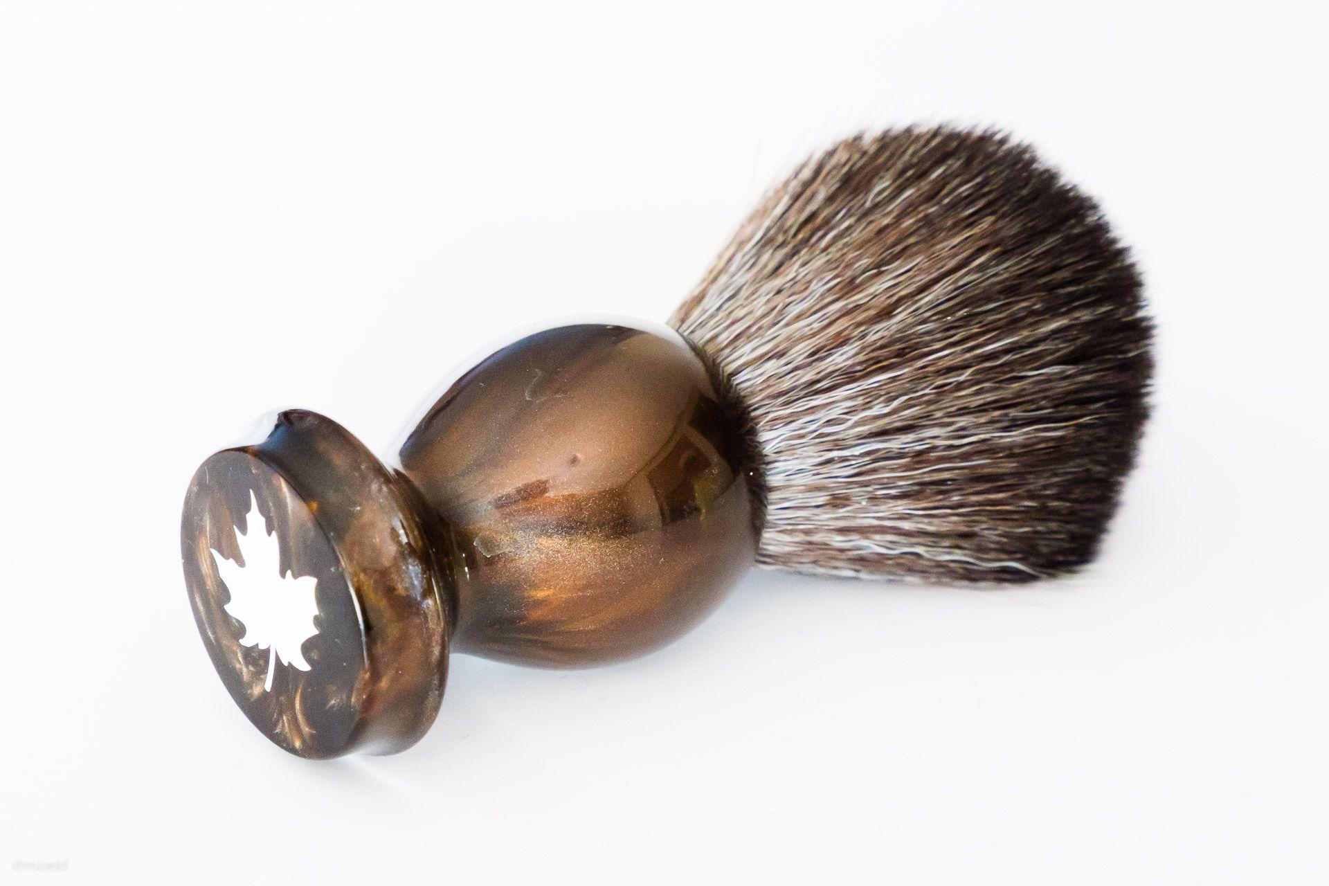 Pędzel do golenia Maggard Razors 22 mm Black Synthetic Shaving Brush, Bronze Handle