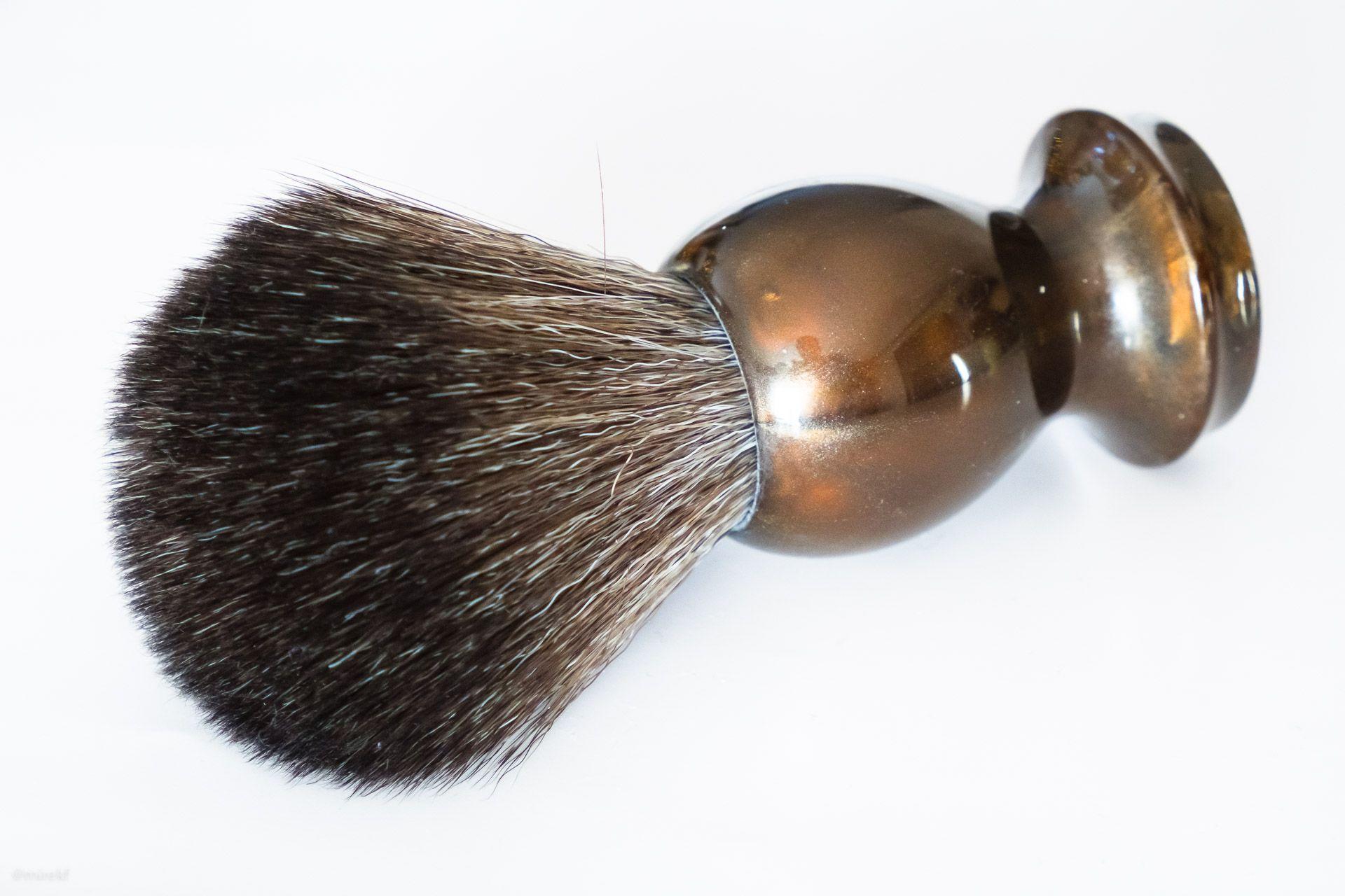 Włosie pędzla do golenia Maggard Razors 22 mm Black Synthetic Shaving Brush, Bronze Handle