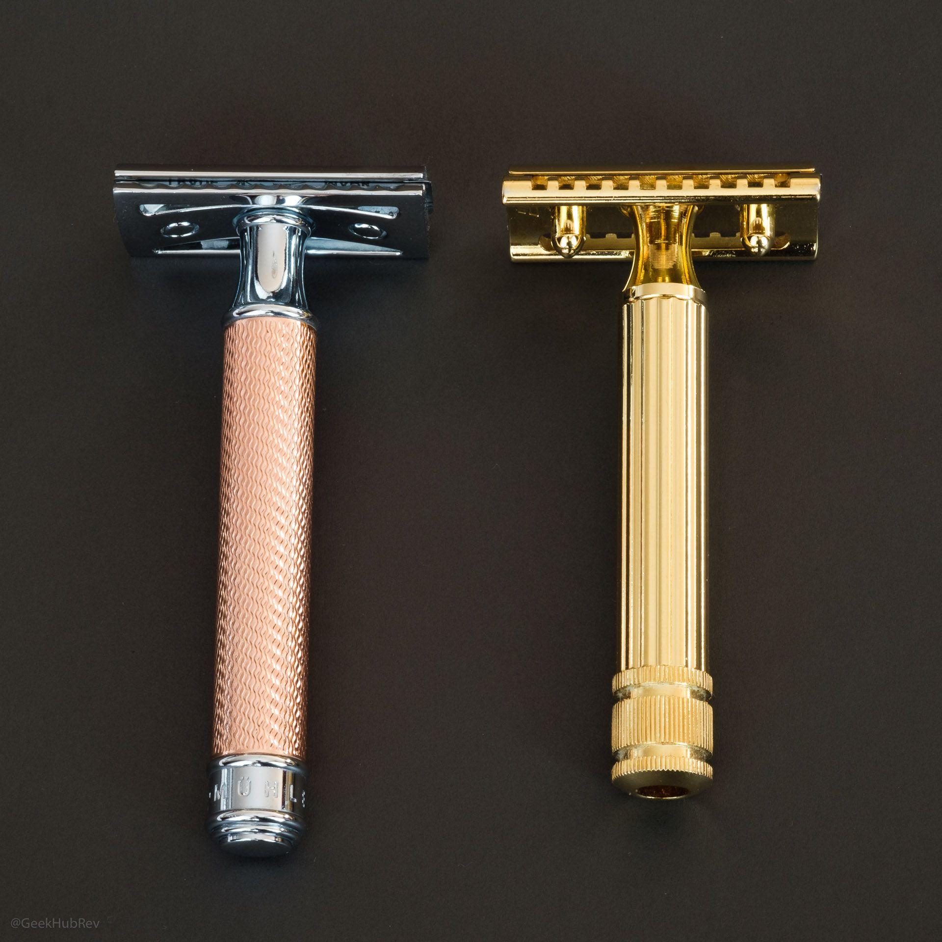 Porównanie maszynki Fatip Testina Gentile Grande Gold z Mühle R89 Rosegold