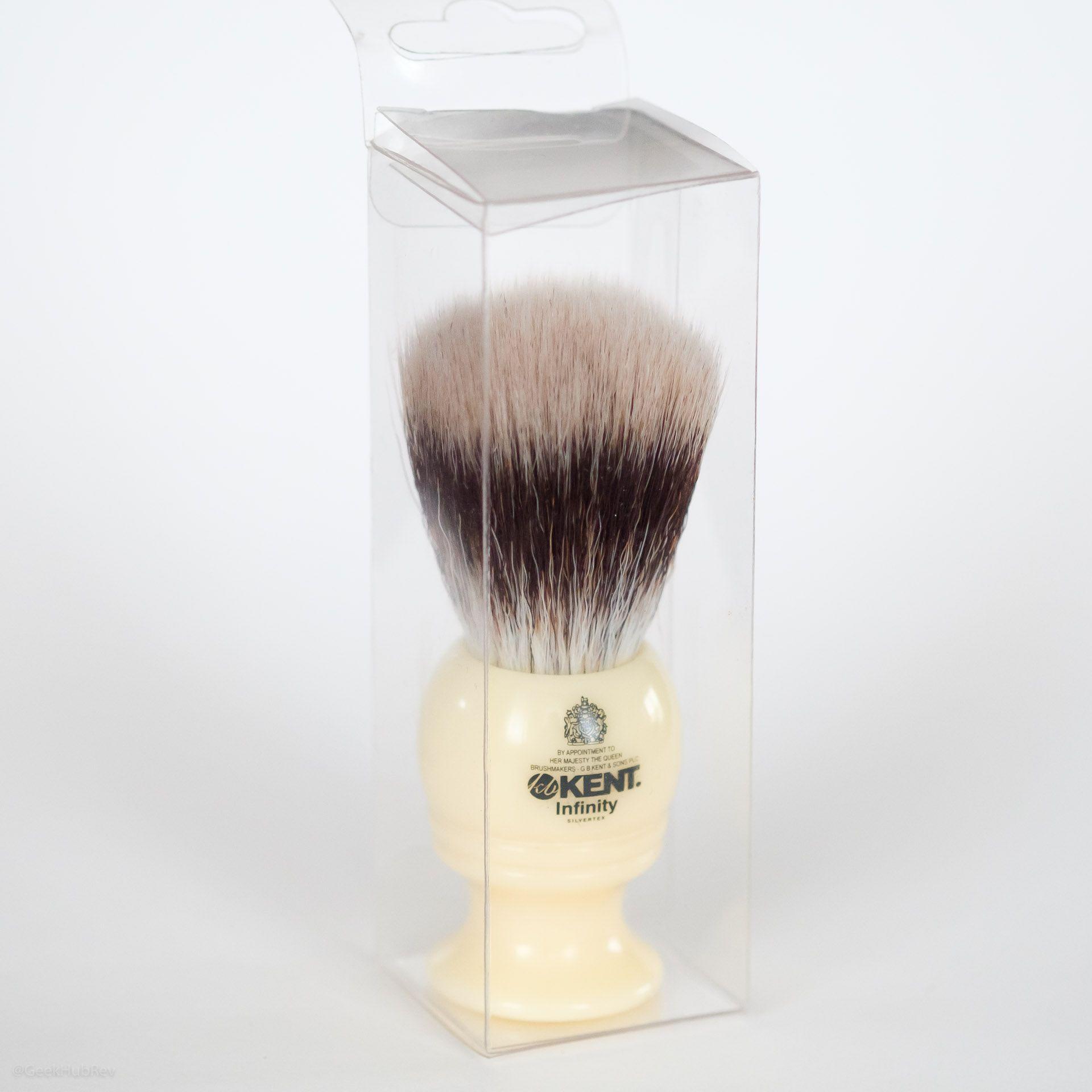 Opakowanie pędzla do golenia Kent Infinity Silvertex Shaving Brush