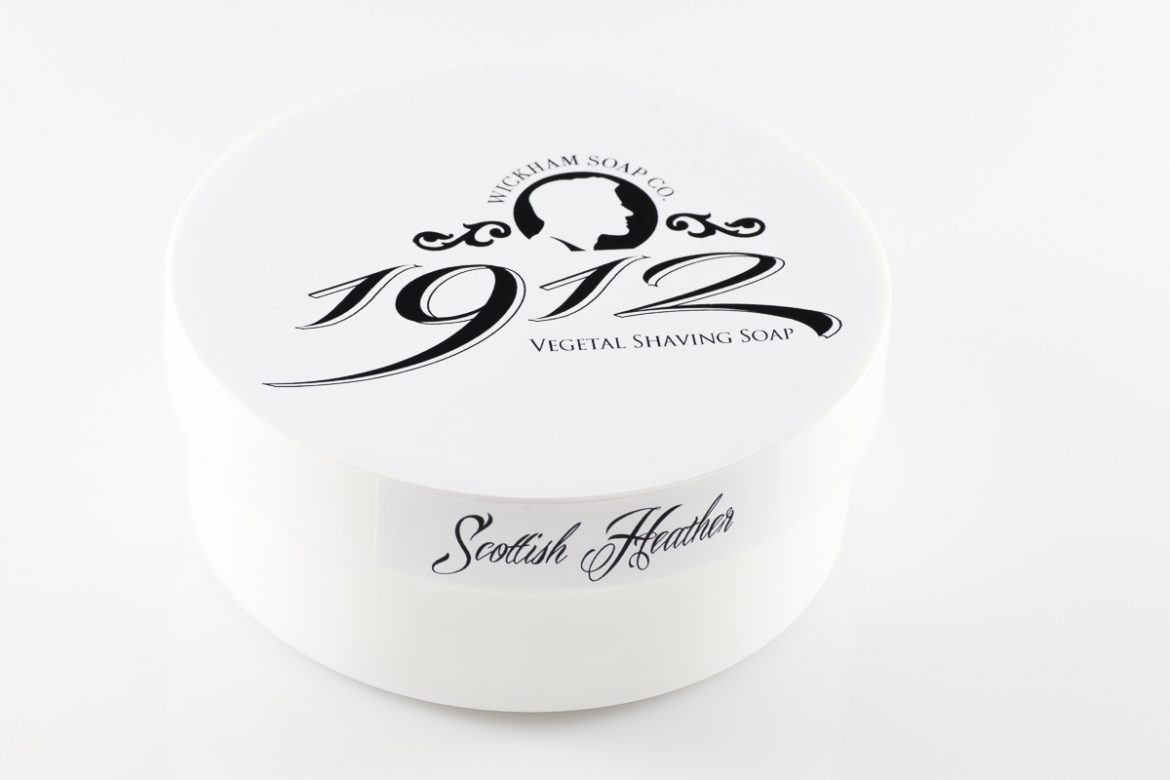 Opakowanie mydła do golenia Wickham 1912 Scottish Heather Shaving Soap